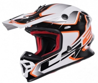 KASK LS2 ENDURO MX456 LIGHT COMPASS WHITE ORAN