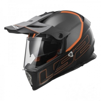 KASK LS2 ENDURO MX436 PIONEER ELEMENT TITAN/B