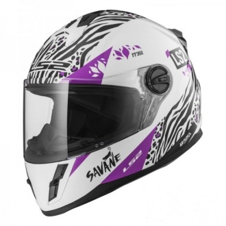 KASK LS2 FF392J KID SAVANE WHITE PURPLE