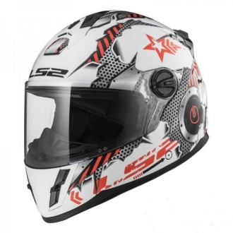 KASK LS2 FF392J KID MACHINE WHITE RED